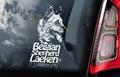 Belgian Shepherd Laeken 2 Hondensticker voor op de auto Per Stuk