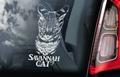 Savannah Cat Kattensticker voor op de auto Per Stuk