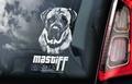 Mastiff 1 Hondensticker voor op de auto Per Stuk