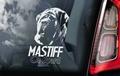 Mastiff 3 Hondensticker voor op de auto Per Stuk
