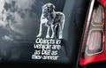 Mastiff 4 Hondensticker voor op de auto Per Stuk
