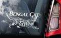 Bengal Cat 2 Kattensticker voor op de auto Per Stuk