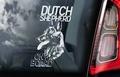 Hollandse Herder Hondensticker voor op de auto Per Stuk