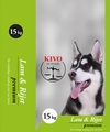 KIVO Lam/ Rijst Geëxtrudeerde brok 15 kg