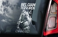 Belgian Tervuren Hondensticker voor op de auto Per Stuk