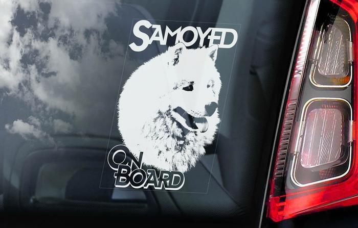 Samojeed 1 Hondensticker voor op de auto - Per Stuk